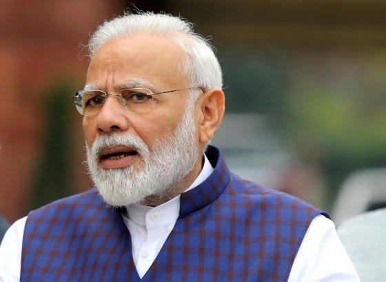 Image: Indian Prime Minister Narendra Modi speaks to the media in New Delhi, India.